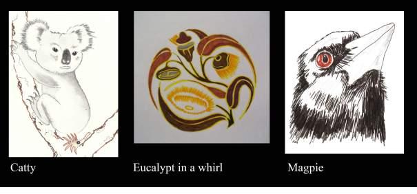 three mixed works